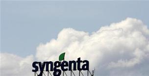 <p>Syngenta, le numéro un mondial de l'agrochimie, confirme ses objectifs annuels après avoir fait état d'un début de saison très prometteur en Amérique latine et s'est dit bien parti pour enregistrer un chiffre d'affaires 2012 record. /Photo d'archives/REUTERS/Arnd Wiegmann</p>