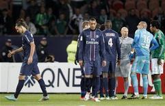 """<p>La première défaite de la saison pour le Paris Saint-Germain en Ligue 1, samedi au Parc des Princes face à Saint-Etienne (2-1) aura eu au moins une vertu, selon l'entraîneur Carlo Ancelotti: servir de """"leçon"""" à ses joueurs. /Photo prise le 3 novembre 2012/REUTERS/Cedric Lecocq</p>"""
