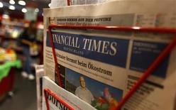 <p>L'éditeur du Financial Times Deutschland (FTD), Gruner + Jahr, a confirmé que le quotidien financier paraîtrait une dernière fois le 7 décembre. /Photo prise le 28 décembre 2012/REUTERS/Kai Pfaffenbach</p>