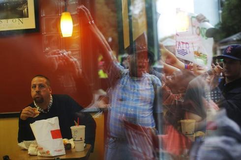 Fast food on strike