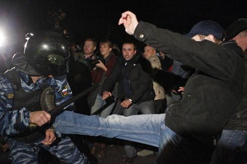 Anti-migrant riots in Russia
