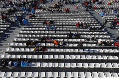 Empty seats in Sochi