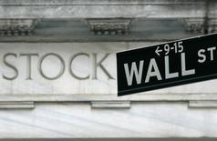 Wall Street a ouvert mardi en légère baisse après trois séances de recul, sous l'effet notamment d'un repli des valeurs technologiques. L'indice Dow Jones perdait 0,19% dans les premiers échanges, le Standard & Poor's 500, plus large, reculait de 0,07% et le Nasdaq Composite était quasiment stable, prenant 0,14%. /Photo d'archives/REUTERS/Brendan McDermid