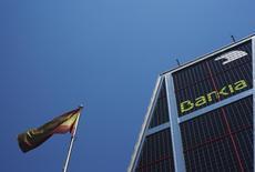 Bankia, la plus grande banque publique espagnole, a mandaté des banquiers pour procéder à la vente de la totalité de sa participation dans le groupe d'électricité Iberdrola; Sa participation de 4,94% représente environ 1,6 milliard d'euros. /Photo d'archives/ REUTERS/Susana Vera