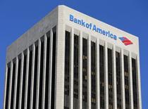 Bank of America va fermer trois bureaux au Costa Rica, au Mexique et aux Philippines, ce qui se traduira par la suppression de quelque 3.000 postes sur les 12 prochains mois. /Photo prise le 15 janvier 2014/REUTERS/Mike Blake