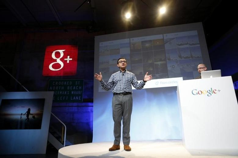 Senior Vice President of Engineering at Google Vic Gundotra speaks about updates to Google Plus during a Google event in San Francisco, California, October 29, 2013. REUTERS/Beck Diefenbach/Files /Files