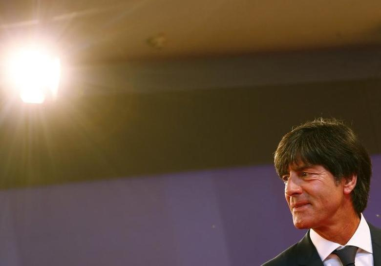 Germany's national soccer team coach Joachim Loew arrives for the ceremony of the German Media Award 2013 for Netherland's Queen Maxima in Baden Baden March 21, 2014. REUTERS/Ralph Orlowski/Files