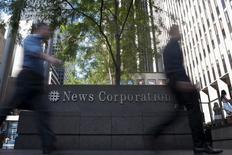 News Corp, le groupe de presse et d'édition détenu par Rupert Murdoch, a l'intention de racheter les éditions Harlequin pour 455 millions de dollars canadiens (300 millions d'euros). /Photo d'archives/REUTERS/Keith Bedford