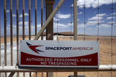 A view of the perimeter fence of Spaceport America near Truth or Consequences, New Mexico May 1, 2014.  REUTERS/Lucy Nicholson