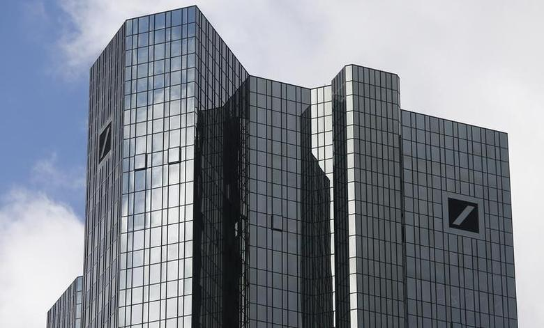 The headquarters of Deutsche Bank are pictured in Frankfurt Octoeber 29, 2013.  REUTERS/Ralph Orlowski/Files