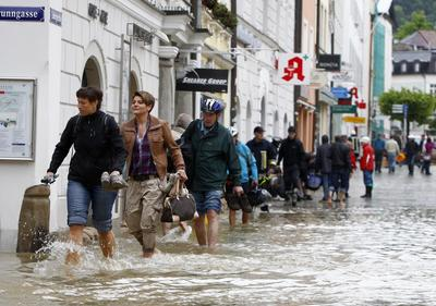 Before and after: Europe's floods