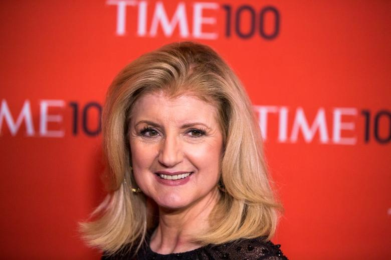Arianna Huffington arrives at the Time 100 gala celebrating the magazine's naming of the 100 most influential people in the world for the past year in New York April 29, 2014. REUTERS/Lucas Jackson