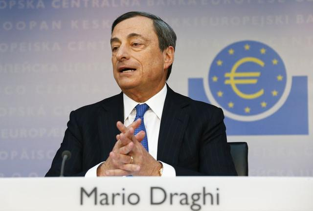 European Central Bank (ECB) President Mario Draghi addresses the monthly ECB news conference in Frankfurt June 5, 2014.   REUTERS/Ralph Orlowski