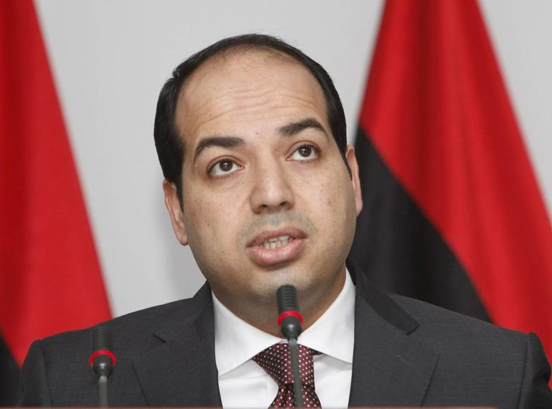 Libya's new Prime Minister Ahmed Maiteeq speaks during a news conference at the office of the Prime Minister in Tripoli on June 7, 2014.   REUTERS/Ismail Zitouny