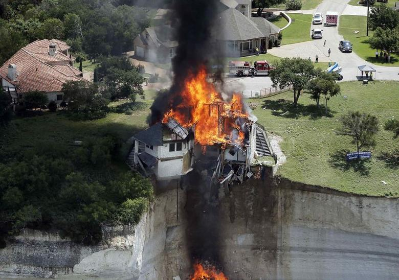 Texas homeowner solves mansion cliff-hanger by burning...