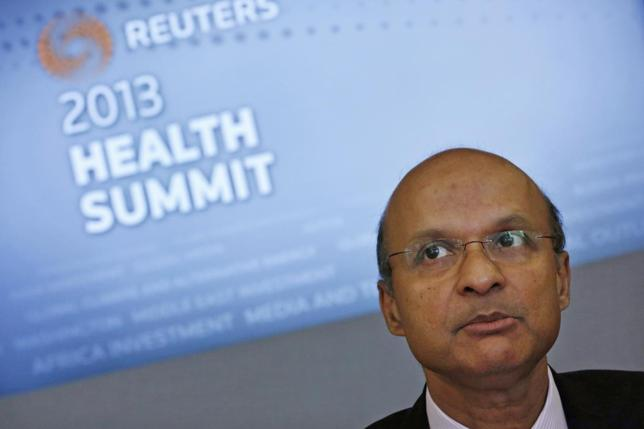 Medtronic Chairman and Chief Executive Omar Ishrak speaks at the Reuters Health Summit in New York in this file photo taken May 7, 2013. REUTERS/Brendan McDermid