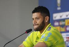 Jogador brasileiro Hulk durante coletiva de imprensa em Teresópolis. 15/06/2014. REUTERS/Marcelo Regua