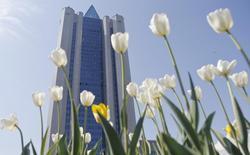 Штаб-квартира Газпрома в Москве, 13 мая 2014 года. Газпром получил листинг на Сингапурской фондовой бирже, прокладывая путь на рынок Азии после заключения мегаконтракта с Китаем на фоне конфликта с Западом из-за украинского кризиса. REUTERS/Maxim Shemetov