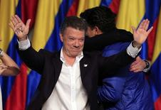 Presidente reeleito da Colômbia, Juan Manuel Santos, em Bogotá. 15/6/2014 REUTERS/Jose Miguel Gomez