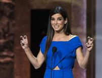 Actress Sandra Bullock speaks at the American Film Institute's 42nd Life Achievement Award at the Dolby theatre in Hollywood, California in this June 5, 2014 file photo.  REUTERS/Mario Anzuoni/Files