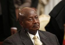 Uganda's President Yoweri Museveni attends an urgent session of the Summit of the Inter-Governmental Authority on Development (IGAD) on South Sudan in Ethiopia's capital Addis Ababa June 10, 2014. REUTERS/Tiksa Negeri