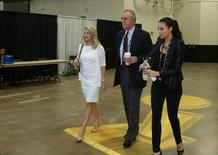 Miami Heat president Pat Riley enters the stadium prior to the game against the San Antonio Spurs in game two of the 2014 NBA Finals at AT&T Center. Mandatory Credit: Soobum Im-USA TODAY Sports