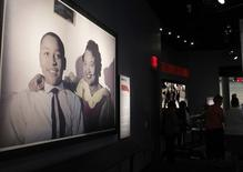 An exhibit that tells the story of Emmet Till, who was murdered in Mississippi, is on display at the new National Center for Civil and Human Rights in Atlanta, Georgia June 19, 2014. REUTERS/Tami Chappell