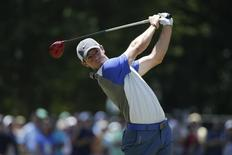 Rory McIlroy tees on the third tee during the final round of the 2014 U.S. Open golf tournament at Pinehurst Resort Country Club - #2 Course. Mandatory Credit: Jason Getz-USA TODAY Sports - RTR3TXGH