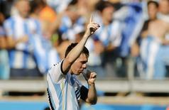 Lionel Messi, da seleção argentina, comemora gol marcado contra o Irã em Belo Horizonte. 21/06/2014. REUTERS/Sergio Perez