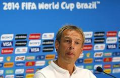Técnico da seleção dos EUA, Jurgen Klinsmann, durante coletiva de imprensa em Manaus. 21/06/2014. REUTERS/Siphiwe Sibeko