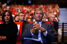 Vincent Bollore, the current vice-chairman of Vivendi and largest shareholder, attends the company's shareholders meeting in Paris, June 24, 2014.  REUTERS/Benoit Tessier