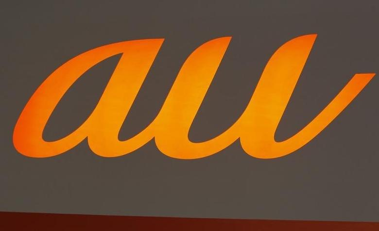 A logo of the ''au'', a mobile cellular services brand provided by KDDI Corporation, is seen at Wireless Japan 2012, a smartphone and mobilephone technology exhibition, in Tokyo May 31, 2012.  REUTERS/Issei Kato