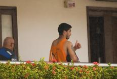 Jogador uruguaio Luis Suárez em hotel em Natal. 26/6/2014 REUTERS/Leo Carioca