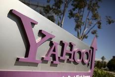 """Yahoo à suivre à la Bourse de New York. Piper Jaffray a relevé sa recommandation sur le titre à """"surpondérer"""", avec un objectif de cours de 43 dollars. /Photo d'archives/REUTERS/Robert Galbraith"""