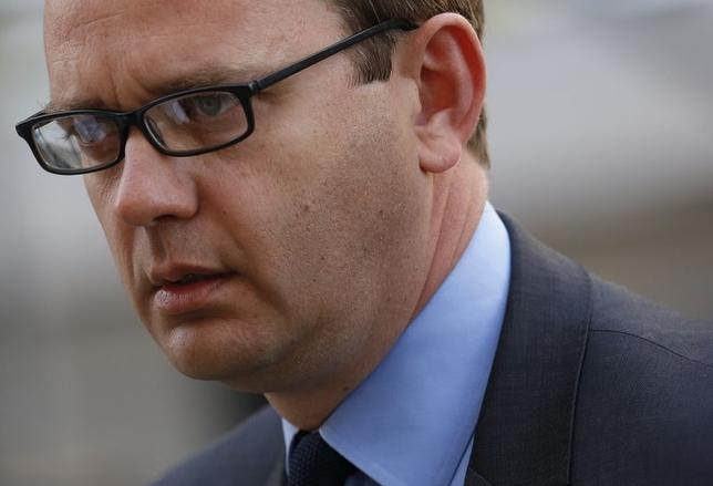 Former Editor of the News of the World Andy Coulson arrives at the Old Bailey courthouse in central London June 30, 2014.  REUTERS/Luke MacGregor