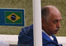 Técnico Luiz Felipe Scolari durante jogo contra a Alemanha em Belo Horizonte. 08/07/2014 REUTERS/David Gray