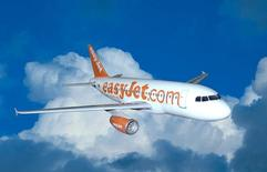 A computer generated hand out image showing an easyJet Airbus A319 jet October 14, 2002. REUTERS/file.