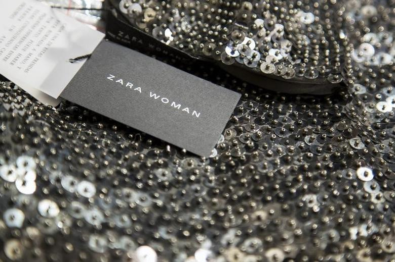 A Zara label is seen on an apparel at Asia's largest Zara flagship store in Hong Kong June 24, 2014.  REUTERS/Tyrone Siu
