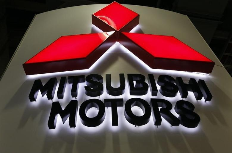 A Mitsubishi Motors logo is seen on display at the New York International Auto Show in New York City, April 20, 2011. REUTERS/Jessica Rinaldi