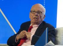 Rupert Murdoch, executive chairman of News Corporation, speaks during a panel discussion at the B20 meeting of company CEOs in Sydney, July 17, 2014.    REUTERS/Jason Reed