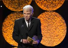 "Actor Billy Bob Thornton accepts the Best Actor in a Movie or Mini-Series for ""Fargo"" at the 4th Annual Critics' Choice Television Awards in Beverly Hills, California in this file photo taken June 19, 2014.   REUTERS/Mario Anzuoni/Files"