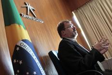 Secretário do Tesouro Nacional, Arno Augustin, durante entrevista à Reuters em Brasília.  30/09/2011.  REUTERS/Ueslei Marcelino
