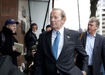 Pat Bowlen, owner of the Denver Broncos, arrives to continue negotiations between the National Football League (NFL) and the National Football League Players' Association (NFLPA) in Washington in this file photo taken March 11, 2011.  REUTERS/Joshua Roberts/Files