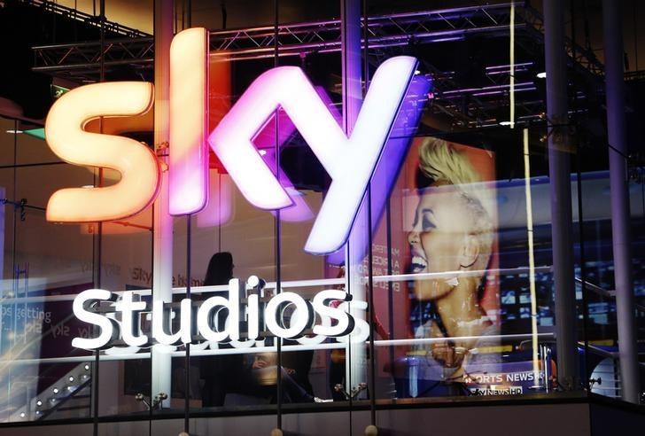 A projection of singer Emeli Sande is seen in the Sky television studios booth during the BRIT Awards at the O2 Centre in London February 20, 2013.   REUTERS/Luke MacGregor