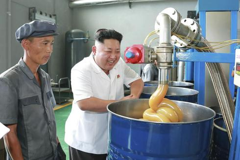 North Korea's supreme factory leader