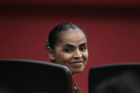 Former Senator Marina Silva attends a plenary voting session of the Supreme Electoral Tribunal, to try to obtain registration for the creation of a party named Rede Sustentabilidade (Sustainability Network), to contest the 2014 presidential elections in Brazil, in Brasilia in this October 3, 2013 file photo.   REUTERS/Ueslei Marcelino/Files