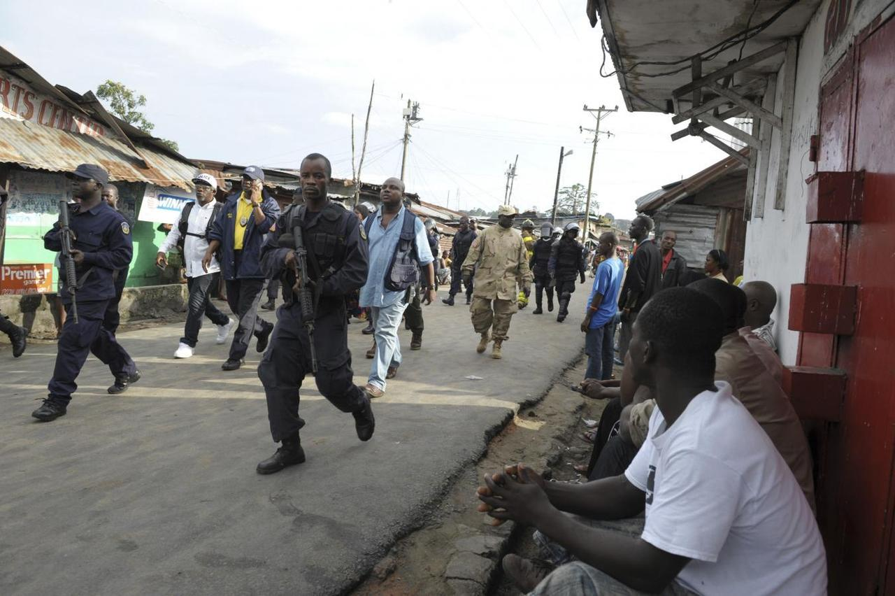 Liberia police fire on protesters as West Africa's Ebola