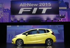 The 2015 Honda Fit is introduced during the press preview day of the North American International Auto Show in Detroit, Michigan January 13, 2014.   REUTERS/Rebecca Cook