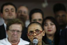 Candidata do PSB à Presidência, Marina Silva, durante evento em Brasília. 20/08/2014. REUTERS/Ueslei Marcelino