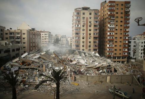 Netanyahu warns Gaza civilians after Israel destroys apartment block